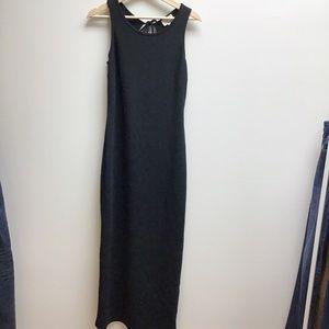Moda international medium black maxi dress tank
